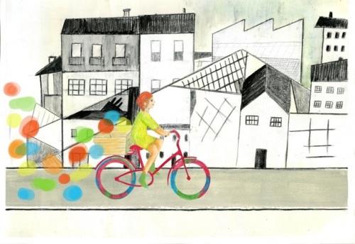 La bicicletta che spostava i colori