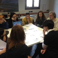 Mimaster: Revisión de proyectos con Sergio Ruzzier (autor e ilustrador) y Giovanna Zoboli de la editorial Topipittori en Milán.