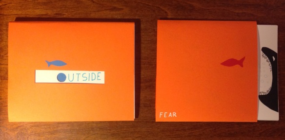"Mis libros (mock up): ""Outside"" y ""Fear"""