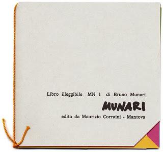 Libro illeggibile di Bruno Munari