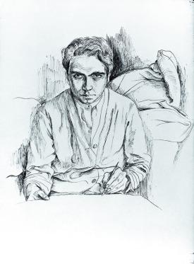 Autorretrato. 1944 Tinta sobre papel. Antoni Tàpies