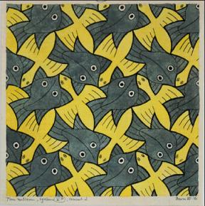 Escher-No-110-BirdFish-1961